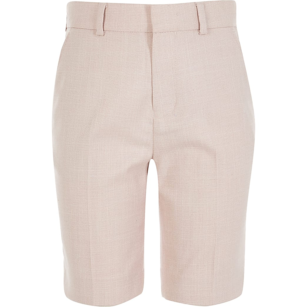 Light pink smart tailored shorts