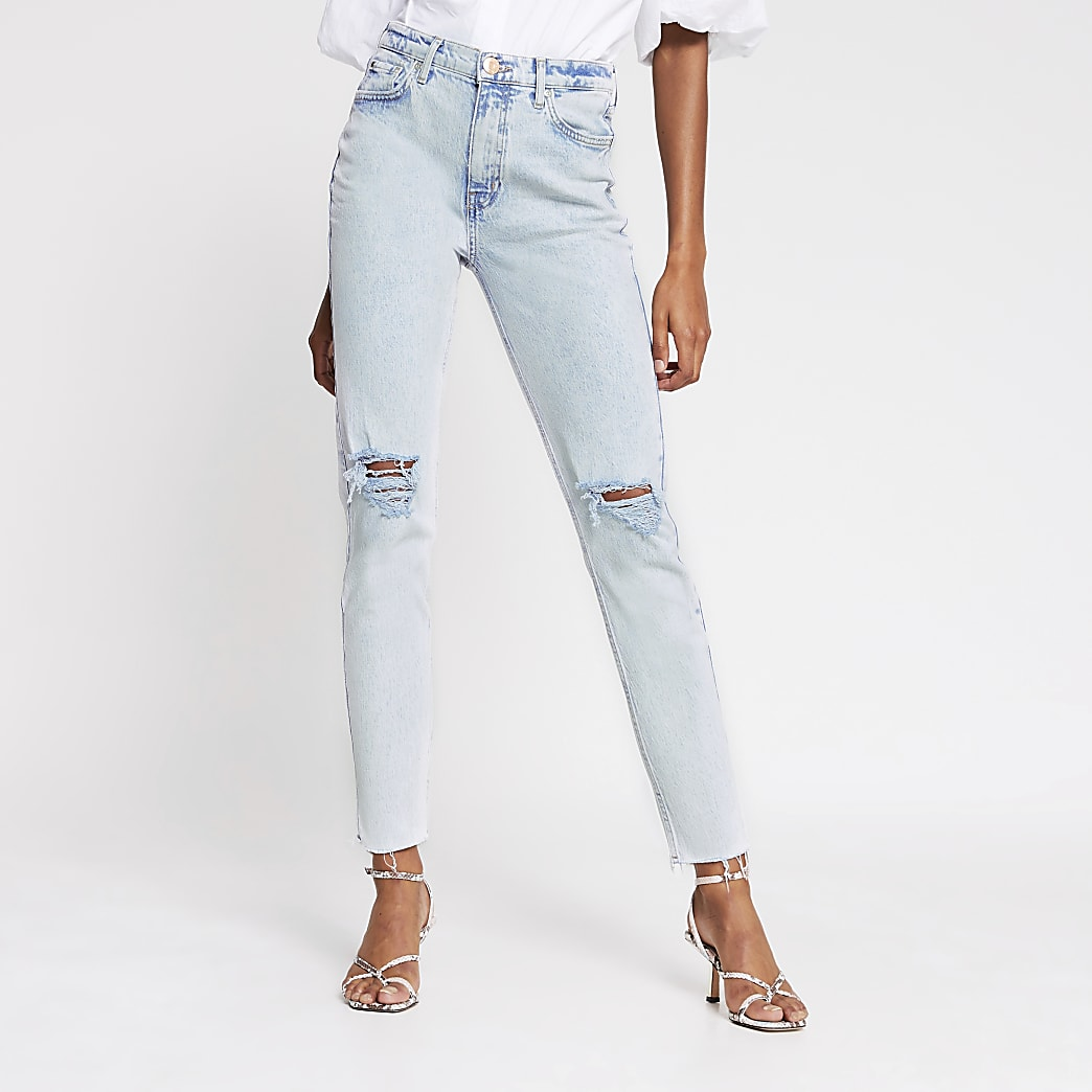 Light wash Brooke high rise slim jean