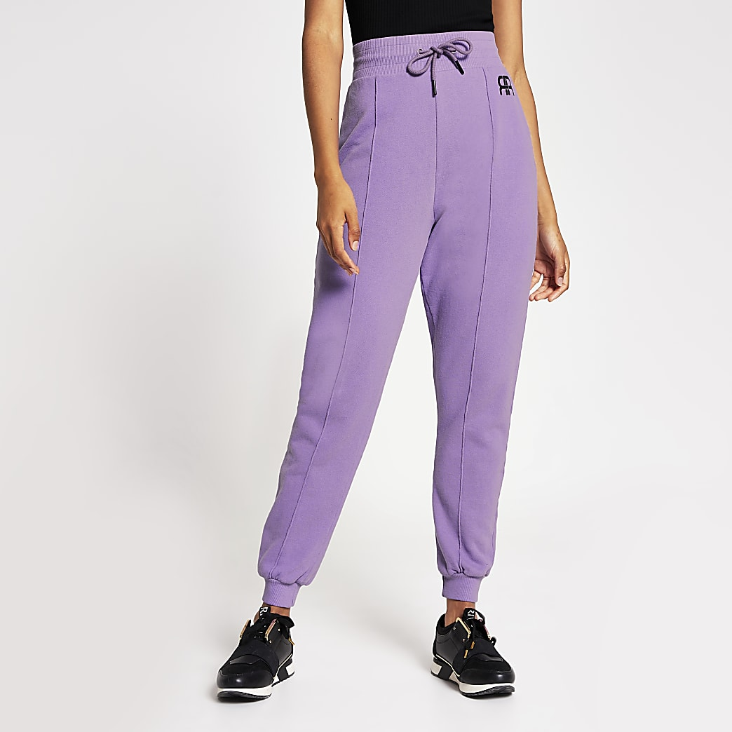 Lilac Branded RR tie waist jogger