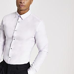 Lilacmuscle-fit overhemd met lange mouwen