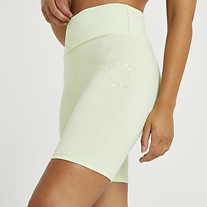 Lime RI Active bum sculpt cycling shorts