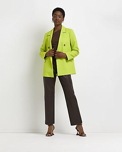 Lime structured blazer