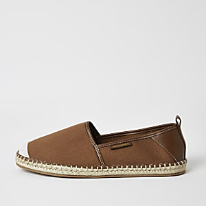 Maison brown canvas espadrille