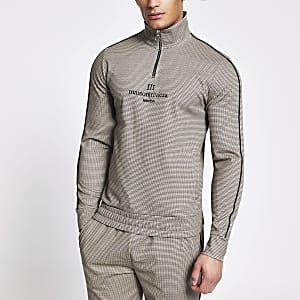Maison Riviera - Slim-fit sweater met halve ritssluiting