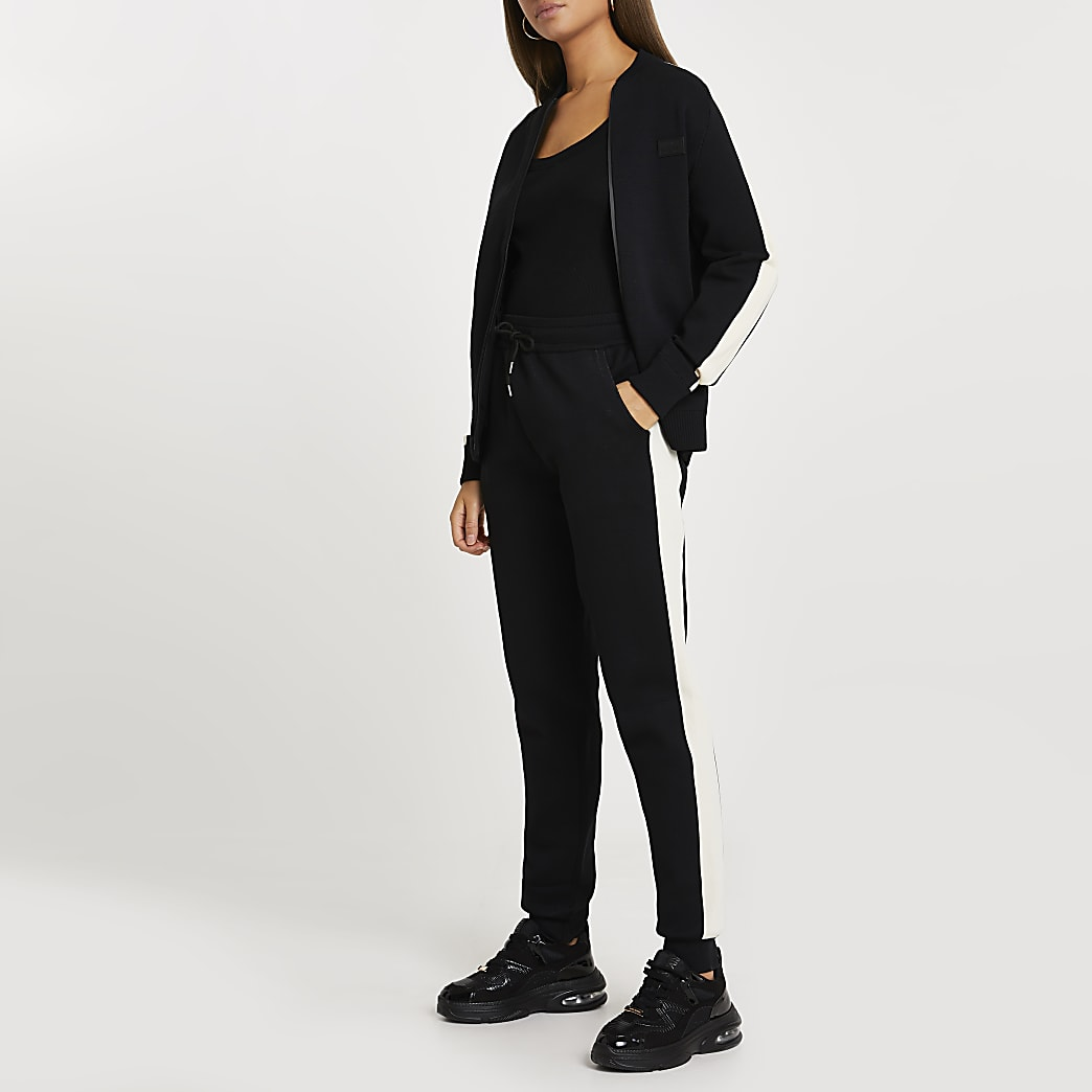 Maison Riviera black bomber jacket