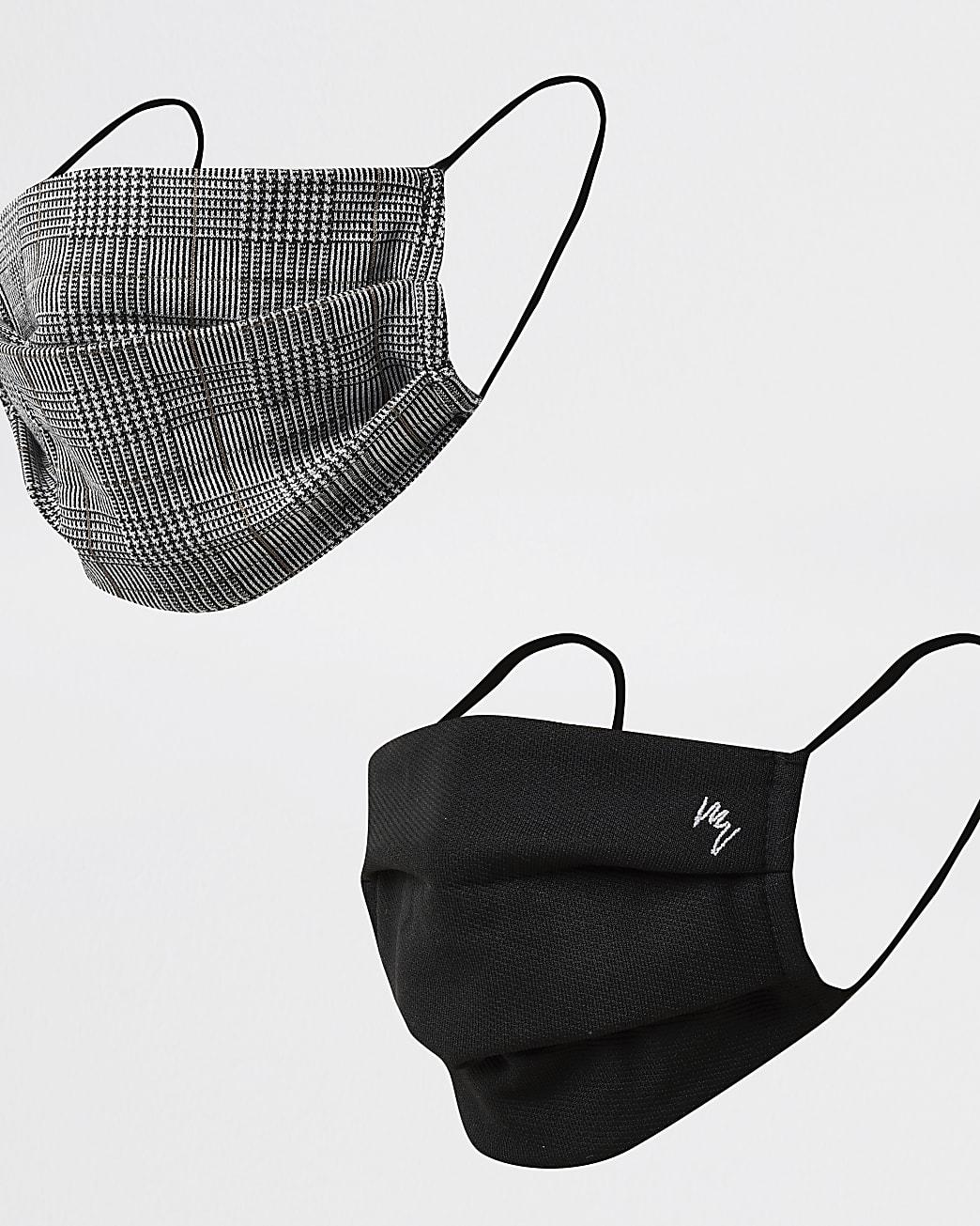 Maison Riviera black check 2 pack