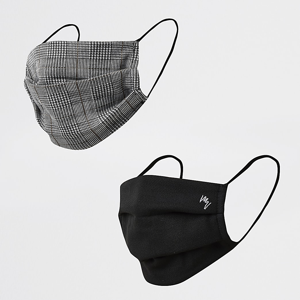 Maison Riviera black check 2 pack