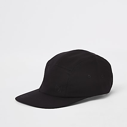 Maison Riviera black five panel cap