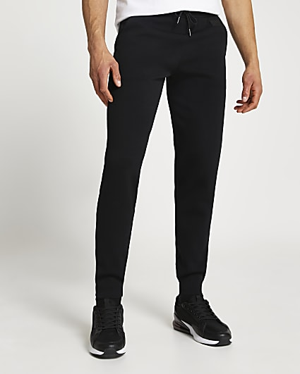 Maison Riviera black knitted slim fit jogger