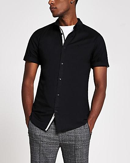 Maison Riviera black short sleeve shirt