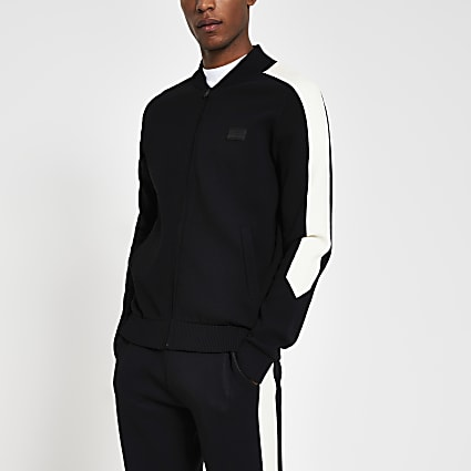 Maison Riviera black slim fit jacket