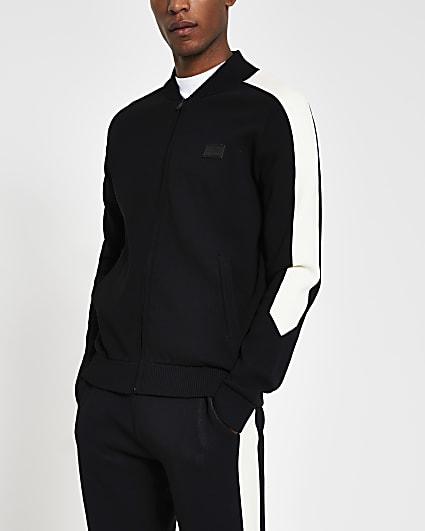 Maison Riviera black slim fit jacket