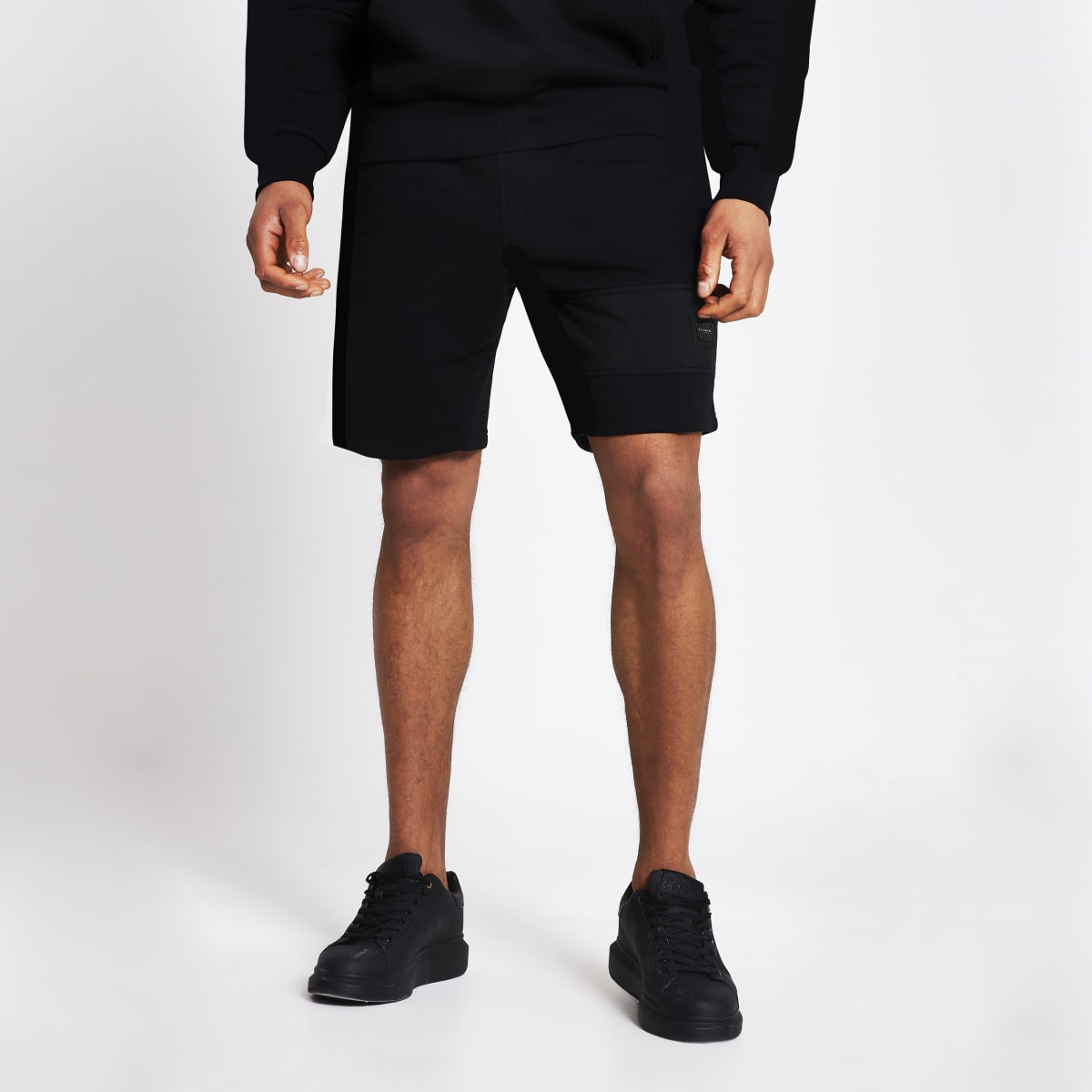 Maison Riviera black slim fit shorts
