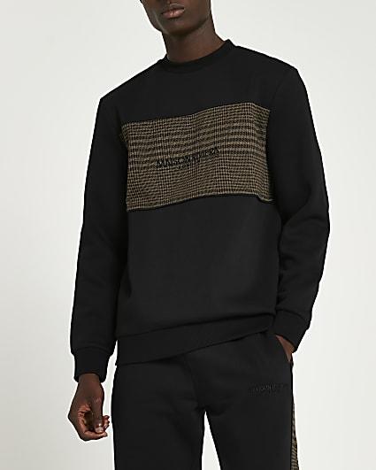 Maison Riviera black slim fit sweatshirt