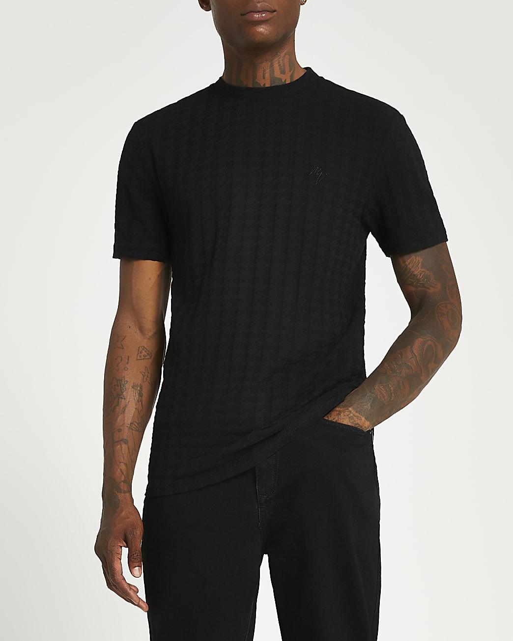 Maison Riviera black slim fit t-shirt