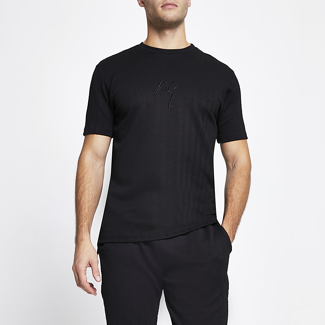 Maison Riviera black slim fit t-shirt