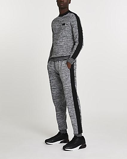 Maison Riviera black spacedye sweatshirt