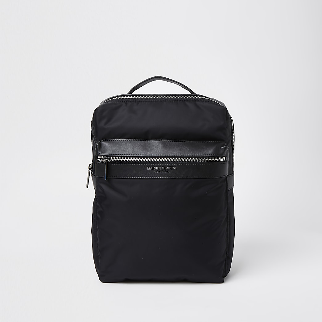 Maison Riviera black square backpack