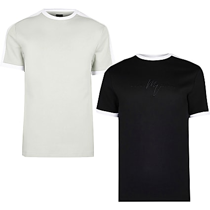Maison Riviera black t-shirts 2 pack