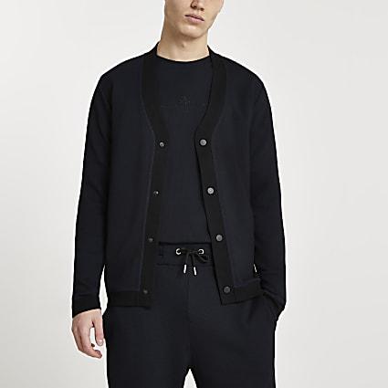 Maison Riviera black textured cardigan