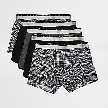 Maison Riviera Black waistband trunks 5 pack
