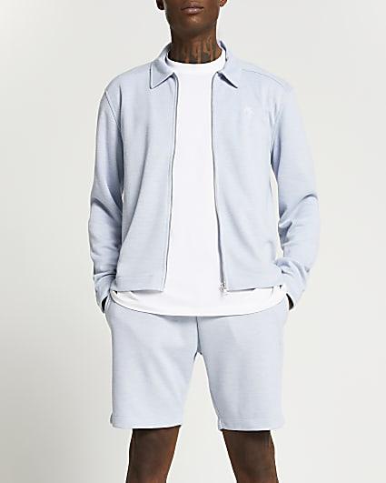 Maison Riviera blue jersey jacket