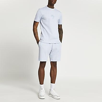 Maison Riviera blue pique shorts