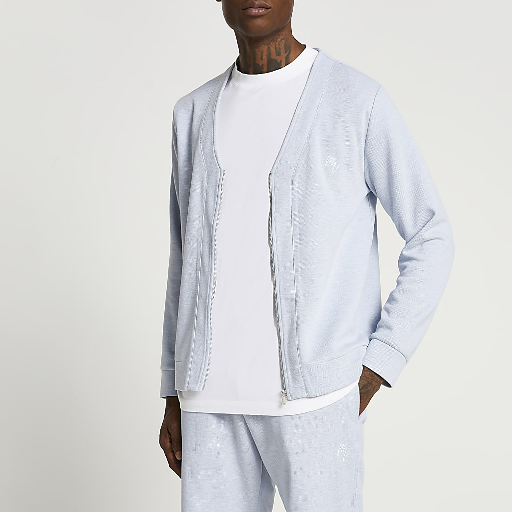 Maison Riviera blue slim fit cardigan