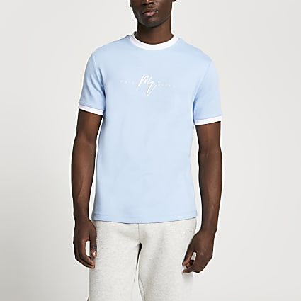 Maison Riviera blue slim fit t-shirt