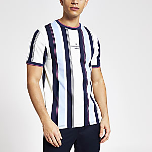 Maison Riviera blue stripe slim fit T-shirt