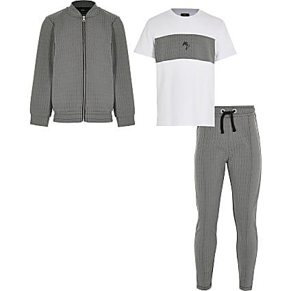 Maison Riviera boys black 3 piece outfit