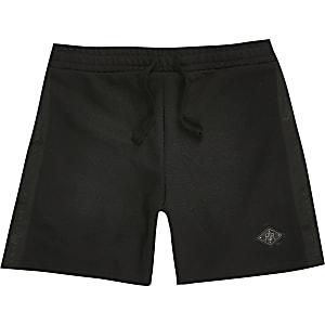 Maison Riviera boys black pique shorts