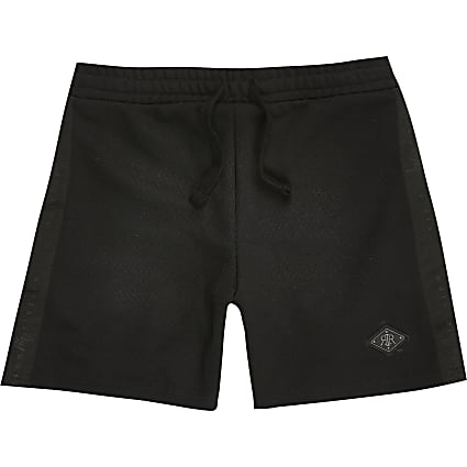 Maison Riviera boys black pique shorts