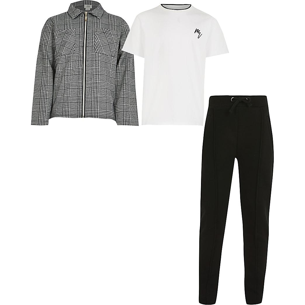 Maison Riviera boys grey 3 piece outfit