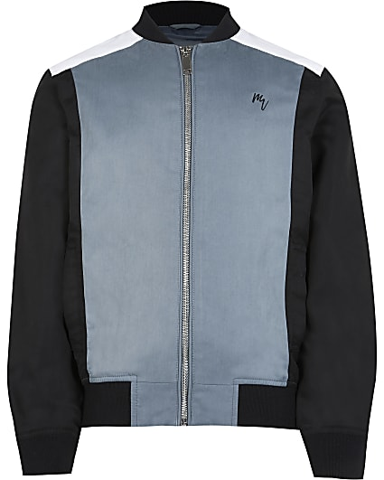 Maison Riviera boys navy bomber jacket