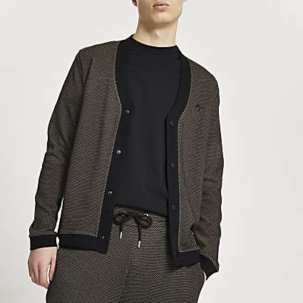 Maison Riviera brown textured cardigan