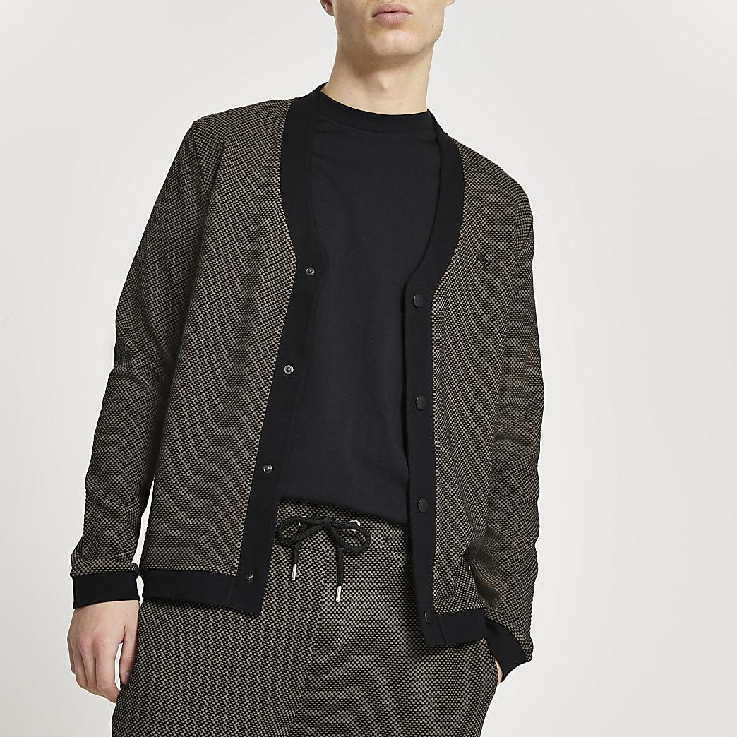 Maison Riviera brown textured cardigan