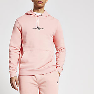 Maison Riviera - Koraalkleurige slim-fit hoodie