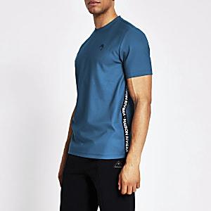 Maison Riviera – Dunkelgrünes T-Shirt mit Tape