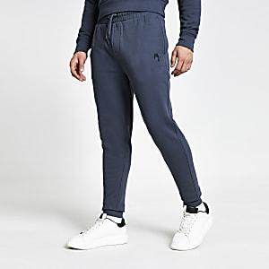 Maison Riviera – Pantalons de jogging slim gris foncé