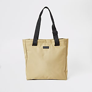 Maison Riviera ecru nylon shopper bag
