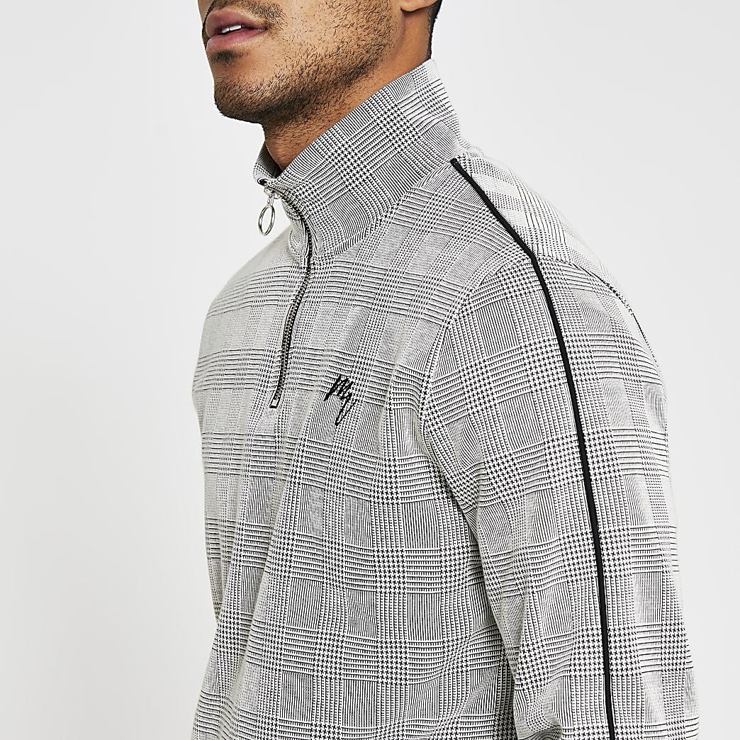 Maison Riviera grey check print sweatshirt