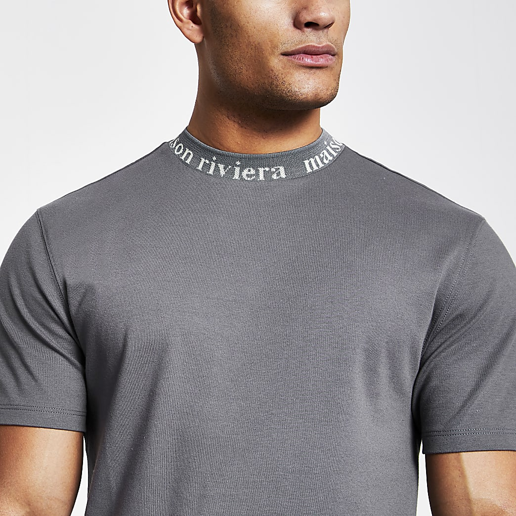 Maison Riviera grey crew neck T-shirt