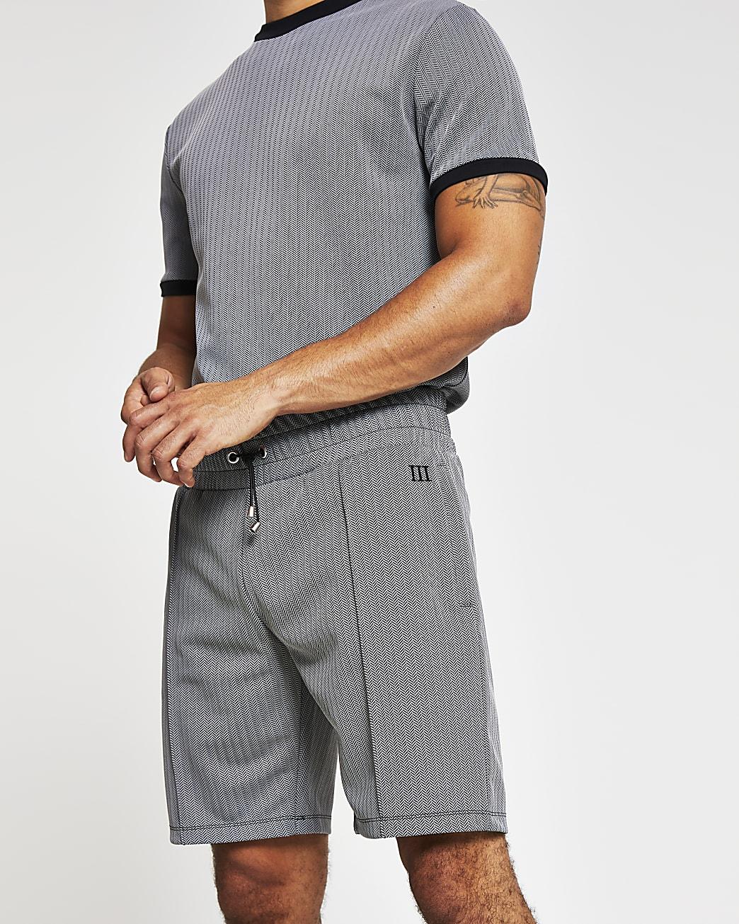 Maison Riviera grey jersey slim fit shorts