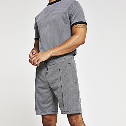 Maison Riviera grey jersey slim fit shorts