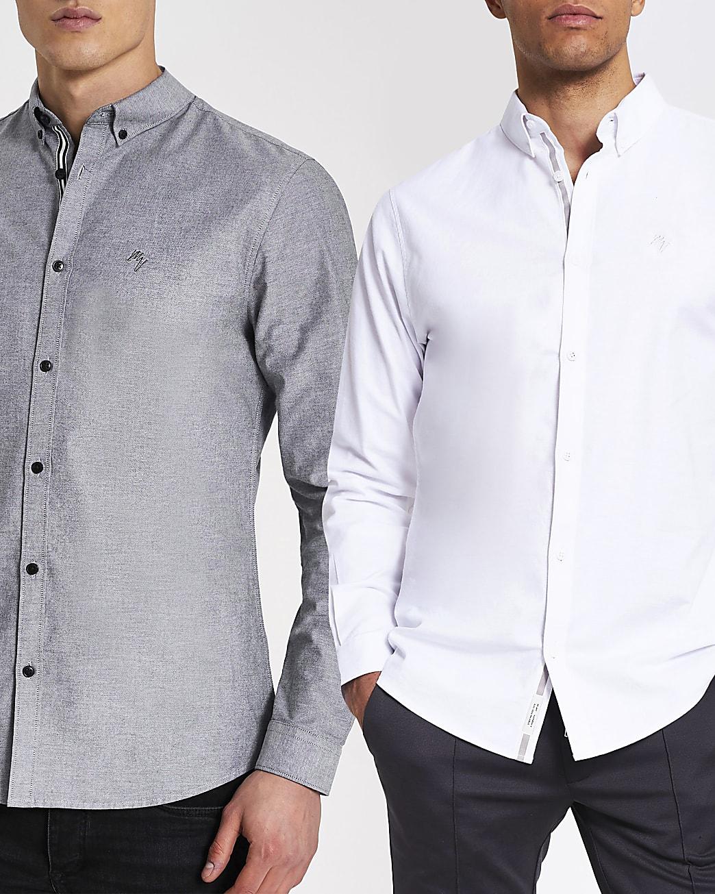 Maison Riviera grey long sleeve shirt 2 pack