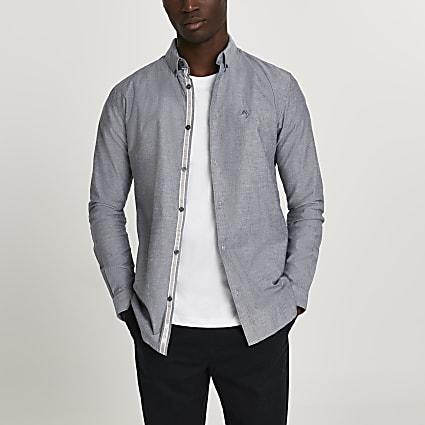 Maison Riviera grey long sleeve shirt