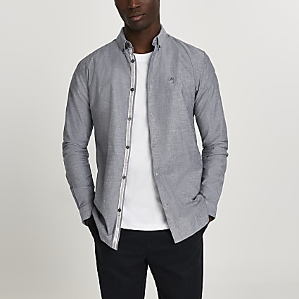 ​Maison Riviera grey muscle fit shirt