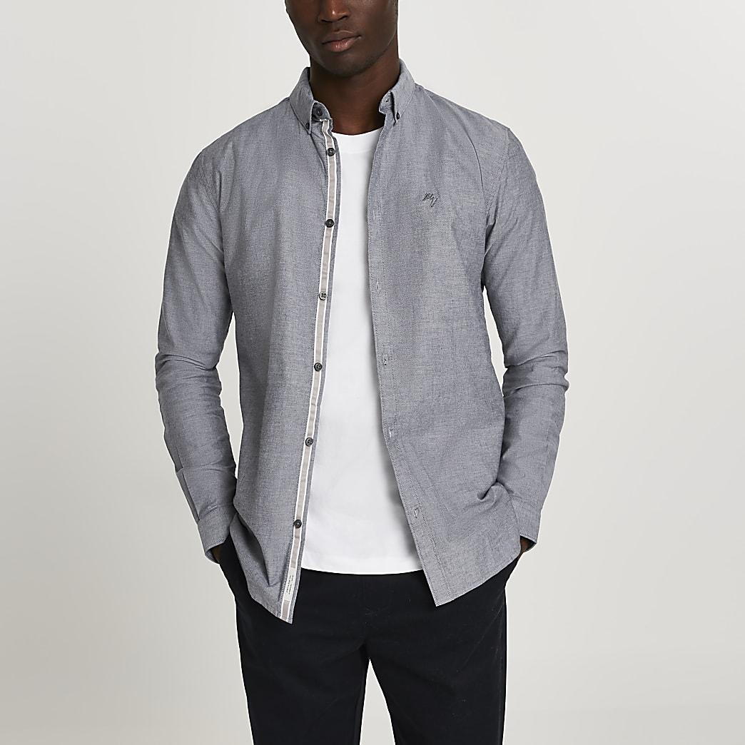 Maison Riviera grey muscle fit shirt