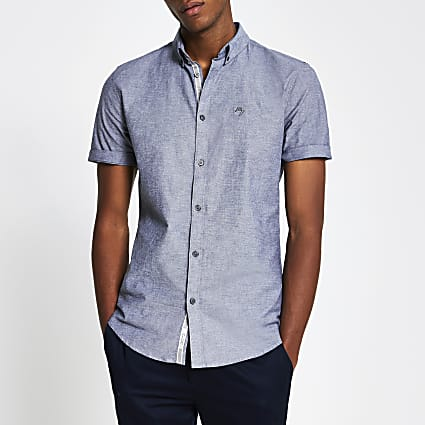 Maison Riviera Grey short sleeve shirt